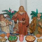 Particolare della statua di Gesù nel Cenacolo