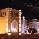 Piazza Sant'Oronzo di Lecce illuminata a festa