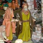 Statue in cartapesta gessata raffiguranti i genitori della Madonna